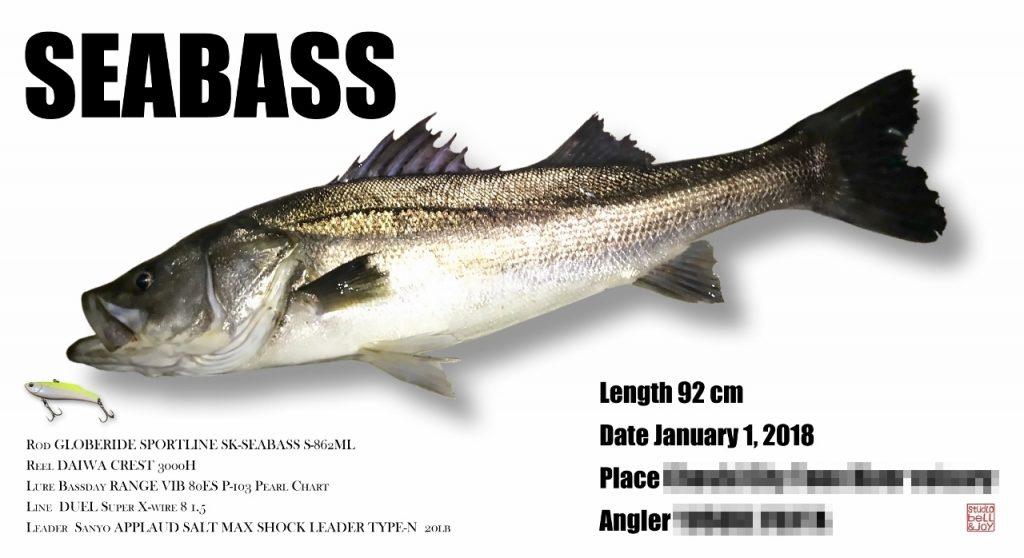 デジタル魚拓シーバス
