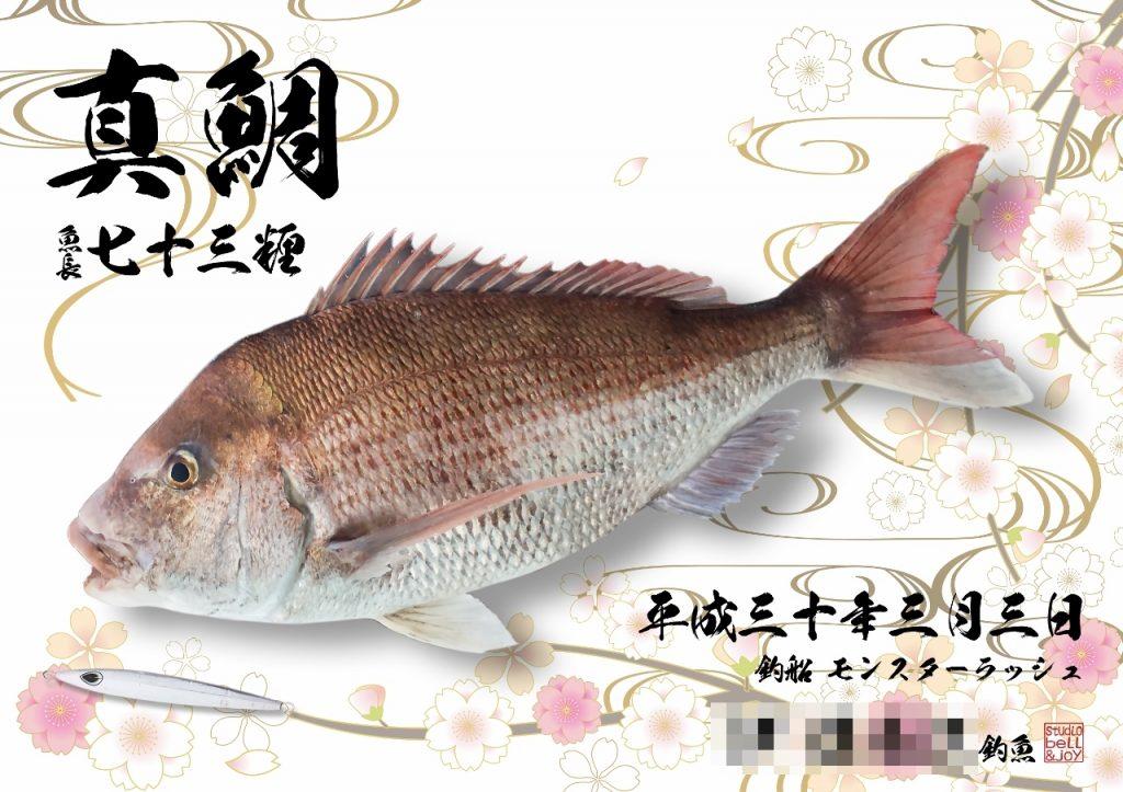 デジタル魚拓真鯛
