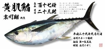 哀川様黄肌鮪1 デジタル魚拓